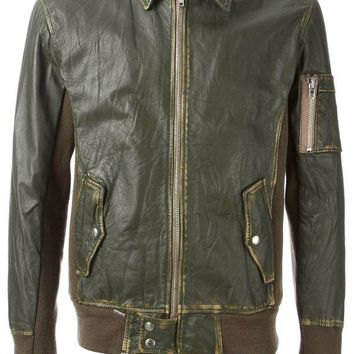 PEAPONJF Sword distressed colour block jacket