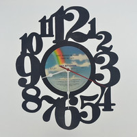 Vinyl Record Album Wall Clock (artist is Jimmy Buffett)