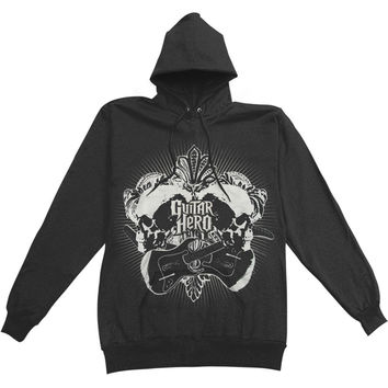 Guitar Hero Men's  Hooded Sweatshirt Black Rockabilia