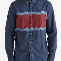 Vans Ranson Long-Sleeve Button-Down Shirt- Navy