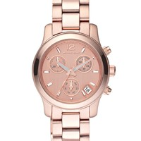 Michael Kors Watch, Women's Chronograph Runway Rose Gold-Tone Stainless Steel Bracelet 33mm MK5430 - All Watches - Jewelry & Watches - Macy's