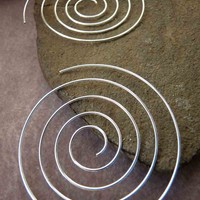 Sterling Silver Jumbo Spiral Earrings