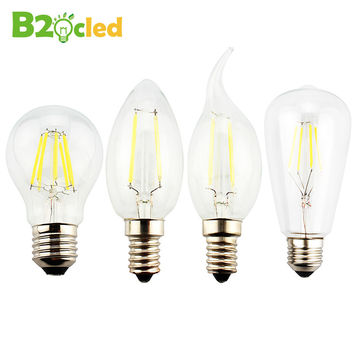 NEW Retro industrial wind LED tungsten lamp 220V E27 Edison light bulb Glass bulb E14 candle chandelier light ball bubble bulb