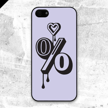 iPhone 5 case - A hundred per cent love : light purple, violet - also available in iPhone 4 and iPhone 4S size
