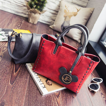 2 Piece Set Combination Leather Bags Handbags Pu Women Casual Women Bag Messenger  Crossbody Retro Shoulder Vintage Handbag