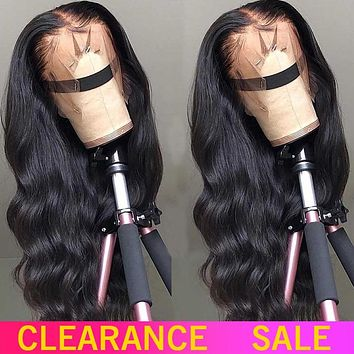 180 200 Density Transparent HD Lace Front Human Hair Wigs 13X4 Invisible Remy Brazilian Body Wave Lace Frontal Wig For Women