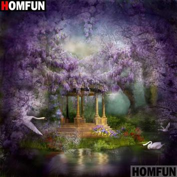 5D Diamond Painting Wisteria Pond Kit