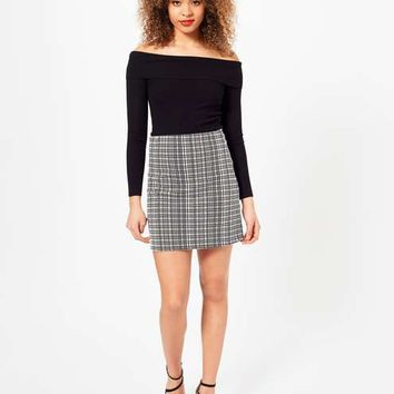 Grid A Line Skirt - Spring Essentials - Sale & Offers