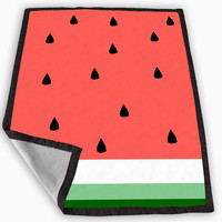 Watermelon Fruit Cute Pink and Green Funny Blanket for Kids Blanket, Fleece Blanket Cute and Awesome Blanket for your bedding, Blanket fleece *