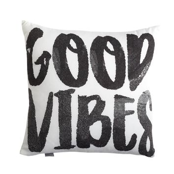 Good Vibes Script Pillow