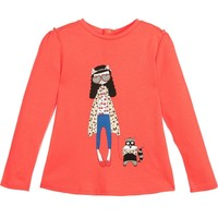 Little Marc Jacobs Baby Girls 'Miss Marc' Red T-shirt
