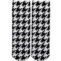 HOUNDSTOOTH ANKLE SOCKS