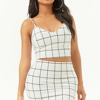 Grid Crop Cami & Mini Skirt