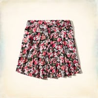 Button Front Skater Skirt