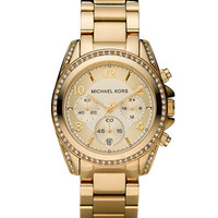 Michael Kors Golden Stainless Steel Blair Glitz Watch