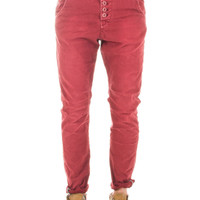 Chino rosso, slim, cavallo basso, Reway Jeans by Rumjungle Italia. – Rumjungle Italia