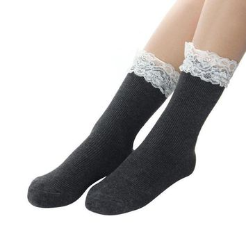 DCCKWJ7 Japanese Women White Lace Ankle Socks Lovely Ladies Princess Frilly Sock With Lace Retro Lolita Ruffle Socks #OR