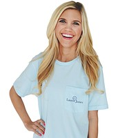 Life is Better in Seersucker Tee in Blue by Lauren James - FINAL SALE