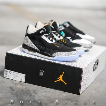 qiyif Air Jordan 3 Retro & Air Max 1 Safari Atmos Pack