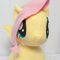 Chibi FlutterShy MLP HandMade Custom Craft Plush by CutieCorral