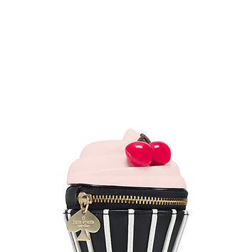 Kate Spade Magnolia Bakery Cupcake Coin Purse Icing Pink Multi ONE