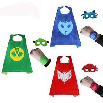 PJ Masks Cloak Cape Mask Role-play Cloak Cape Mask Owlette Gecko Pajamas Cosplay Action Toy Costume Pajamas Cosplay For Children