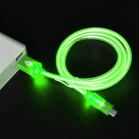 Glow in the Dark Light-up LED USB Data Sync Charger Cable Charging Cord for Iphone 5 5C 5S 6S 6 Plus