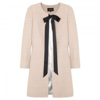 Cotton and linen blend coat