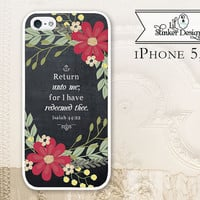 Isaiah 44:22, Christian Chalkboard Bible verse cell phone case, iPhone 4 4S 5 5s 5c, Samsung Galaxy S3 S4 S5, Scripture C2064