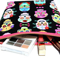Day of the Dead cosmetic bag, makeup bag, Travel bag