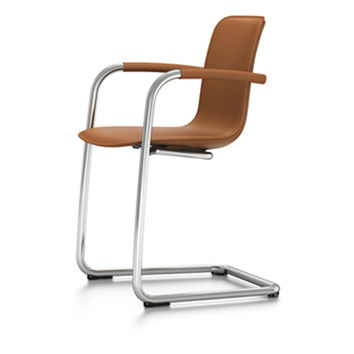 HAL Leather Cantilever chair with armrests