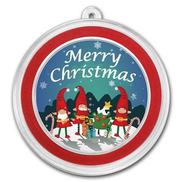 1 oz Silver Round - Christmas Elves
