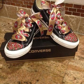 Football themed blinged converse