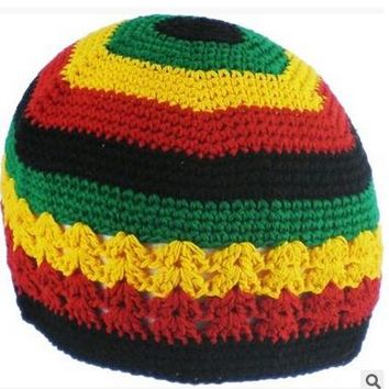 New Jamaican Rasta hat Bob Marley hat Jamaican hat tams fancy dress costumes Crochet rasta beanies Gorro Bob marley cap G-71