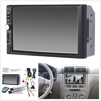 MP5 Player Bluetooth Touch Screen Stereo Radio HD+Rear Camera 1x 7 inch 2DIN Car