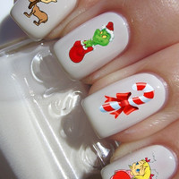 The Grinch Nail Decals