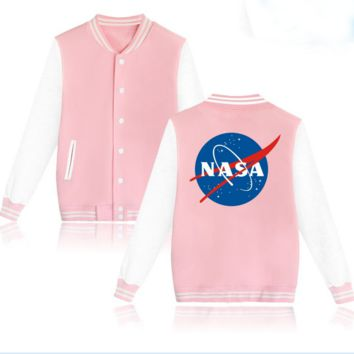 """NASA""Fashion print loose leisure sweater caot"