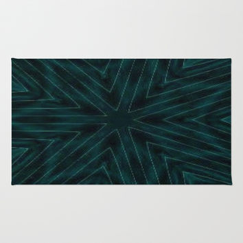 Dark Teal Paper Snowflakes Area & Throw Rug by 2sweet4words Designs