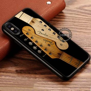 Fender Stratocaster Guitar iPhone X 8 7 Plus 6s Cases Samsung Galaxy S8 Plus S7 edge NOTE 8 Covers #iphoneX #SamsungS8