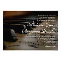 Piano Keys Sheet Music Wedding Invitations