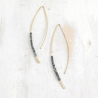 fail: Gold and Oxidized Silver Crescent Earrings, Medium