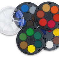 Watercolor Wheel Stack Pack • Watercolor Paint Wheel (4 trays & Clear Cover) Art Supplies (PD101)