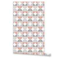 Self Adhesive WALLPAPER, Removable Vinyl Wallpaper, Wall Decal, Peel & Stick, Colorful Repositionable Wallpaper Geometric Pattern