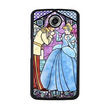 cinderella art glasses disney nexus 6 case cover  number 1
