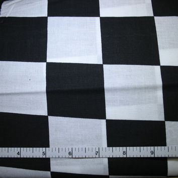 1 Yard, Large Black and White Checkered