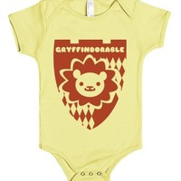 Gryffindorable | 3-6 Mos Lemon Baby Onesuit | Cute Harry Potter Onesuits