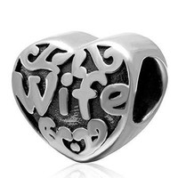 Wife Anniversary Love Charm Bead Fits Pandora Charms Gifts from Husband