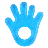 Safety EVA Material Water Filled Babies Plam Shape New Silicone Teethers Water Filled Baby Teethers Food Safe Silicone Teethers