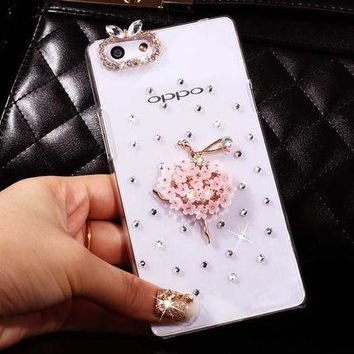 2017 Bling Rhinestone Smart Phone Case For Sony Xperia M5,High Quality Diamond Pattern Cell Phone Case Shell For Sony Xperia M5