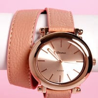 Oh Snap! on the Wrist Wraparound Pink Watch